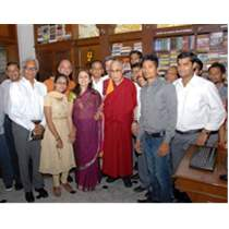 "His Holiness the ""Dalai Lama"" at Kitab Khana on 1st June, 2014"