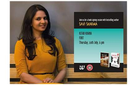 Book Signing by Savi Sharma at 6:00 pm.