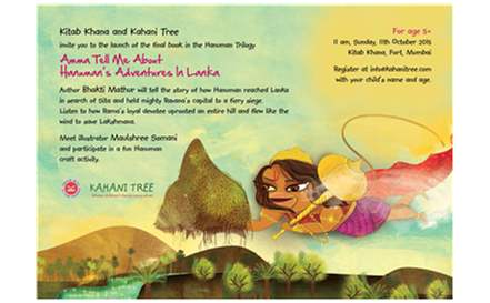 'Amma Tell Me about Hanuman's Adventures in Lanka' with author Bhakti Mathur on 11th october,2015.
