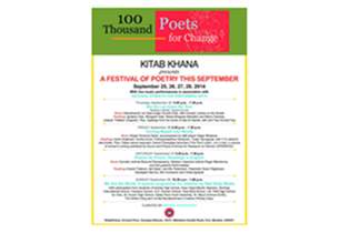 KitabKhana to host four-day Poetry Programme for 100 Thousand Poets for Change between 25th to 28th September, 2014
