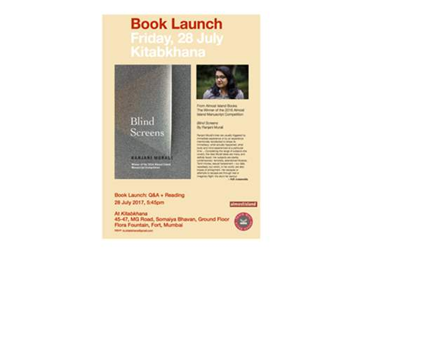 Book Launch : Blind Screens by Ranjani Murali